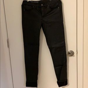 Madewell Leather Coated Skinny Jeans